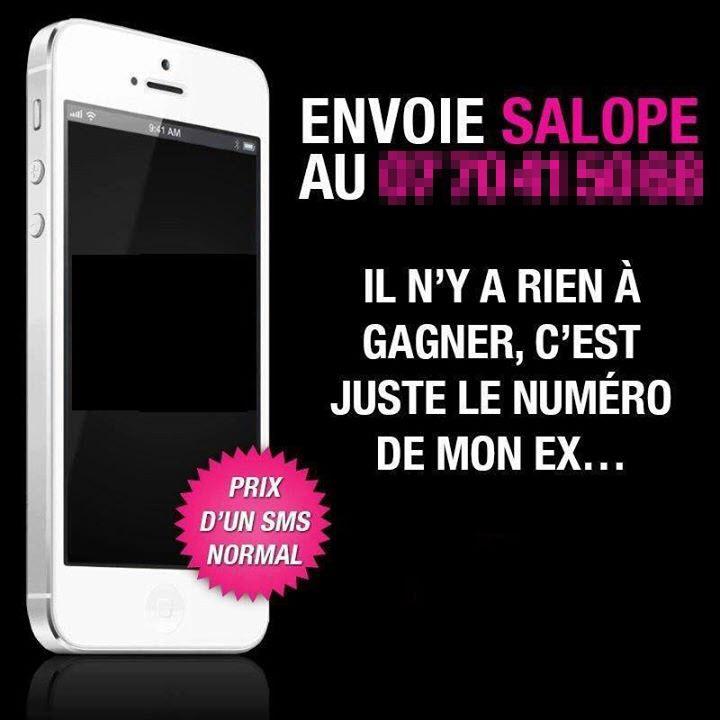 message de service SMS Salope pour ton ex