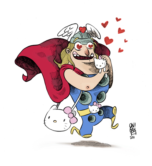 Thor love Hello Kitty