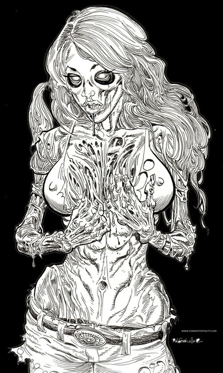 ArtWork : Zombie Pin Up