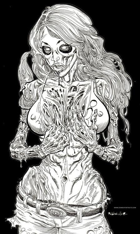 ArtWork : Zombie Pin Up