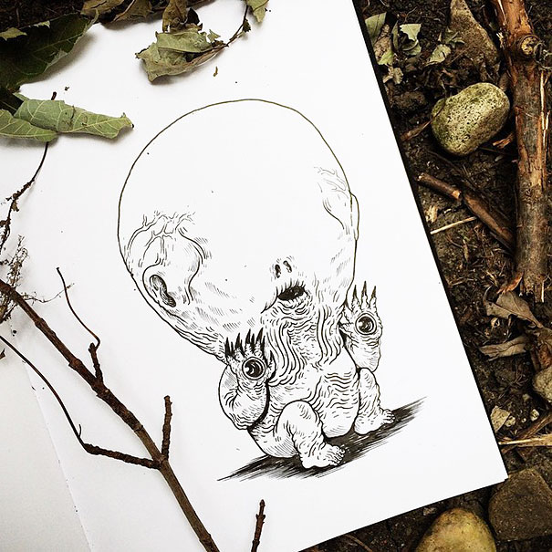 baby-terrors-iconic-horror-monsters-illustrations-alex-solis-12
