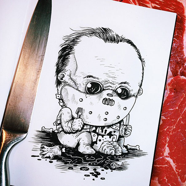 baby-terrors-iconic-horror-monsters-illustrations-alex-solis-18