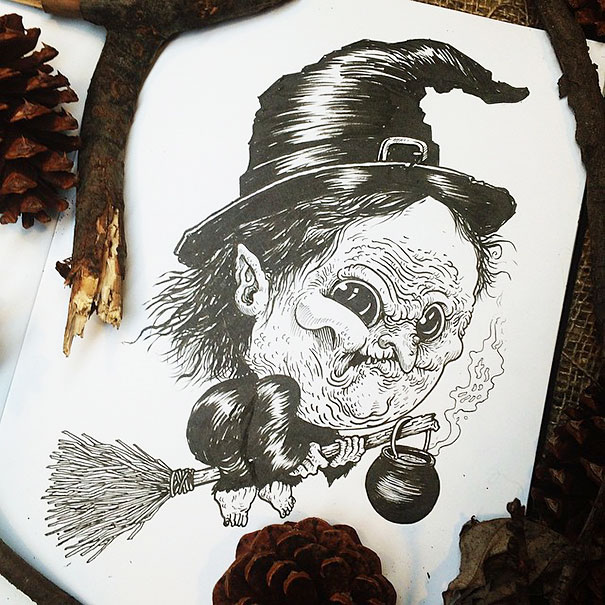 baby-terrors-iconic-horror-monsters-illustrations-alex-solis-19