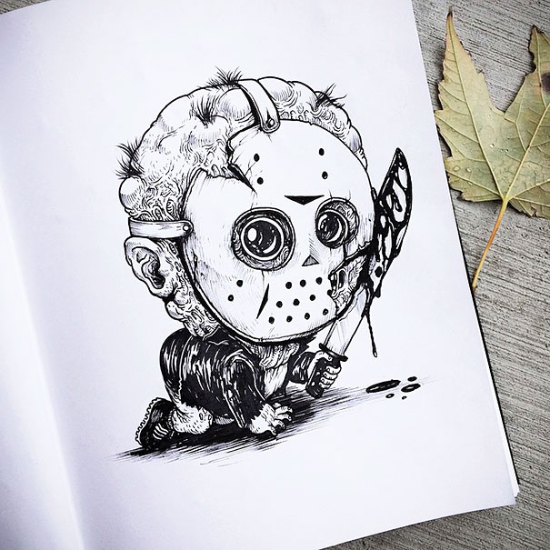 baby-terrors-iconic-horror-monsters-illustrations-alex-solis-4