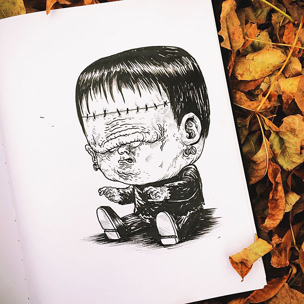 baby-terrors-iconic-horror-monsters-illustrations-alex-solis-9